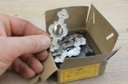 Original verpackte alte Schlüsselschilder