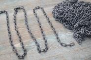 Feingliedrige Eisenkette, matt verzinkt, 150 cm