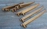 Bronzierte Regalkonsolen aus Eisen