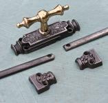 Originale Basculegetriebe aus dem Historismus mit Gestänge