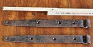 Einfache geschmiedete Türbänder, 35,5 cm