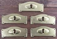 5 Biedermier-Schlüsselschilder, neu hergestellt
