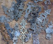 Konvolut benutzter Schlüsselschildchen, um 1890