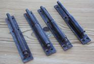 Vierersatz schlanke Plattenkloben-Unterteile, 12 mm