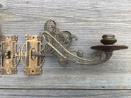 Paar Jugendstil-Klavierleuchter aus Messing