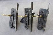 Einsteckschlösser für rechts angeschlagene Zimmertüren, um 1880