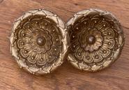 Zwei extravagante Möbelziehgriffe,  19. Jahrhundert