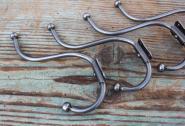 Einfacher alter Drahthaken, Größe 2