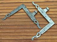 1 Paar verzinnte Winkelbänder des 18.Jh.