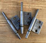 Drei Lappenband-Unterteile, stumpfeinschlagend, 12mm