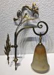 Originale Wandlampe aus der Zeit des Jugendstils