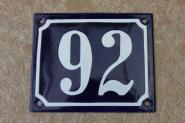 Kleine Hausnummer aus Emaille, 12 x 10 cm