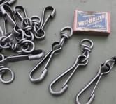 Alte Karabinerhaken aus Eisen, klein