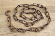Schwere Eisenkette mit Haken, 200cm