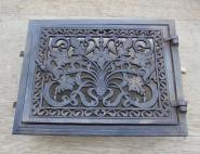 Filigrane Warmhaltefach-Tür aus Gusseisen,