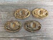 Vier alte Ziehgriffe
