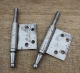 1 Paar Lappenband-Unterteile für stumpf einschlagende Tür, 13mm