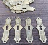 Jugendstil-Schlüsselschilder aus Messing