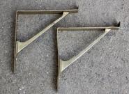 1 Paar kleine Regelkonsolen aus Messing, 12cm