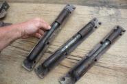 3 kräftige Türbänder zum Einlassen