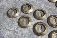 Schlüsselrosette aus Messingguss