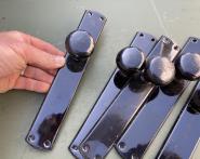 Altes Langschild mit flachem Knauf, Eisen, ohne Schlüsselloch
