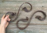 Zwei Zierteile aus Eisen