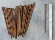 Sehr lange alte Schmiedenägel, 17 cm