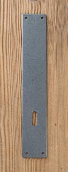 Langschild-Rohling aus Eisen mit Buntbart-Loch, Abstand variabel