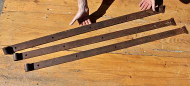 Drei sehr lange Türbänder, 19.Jh., 125 cm