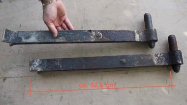 1 Paar Kloben für Scheunentor, Dorndurchmesser 30 mm