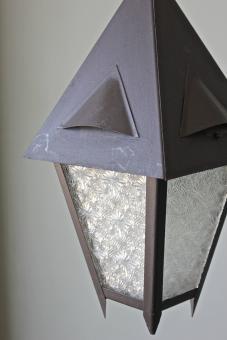 Kleine, alte Außenlampe
