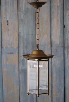 Flurlampe mit Facettenglas um 1920