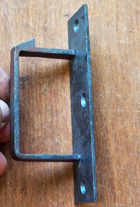 Schließkloben für Kastenschlösser, links, neu angefertigt!